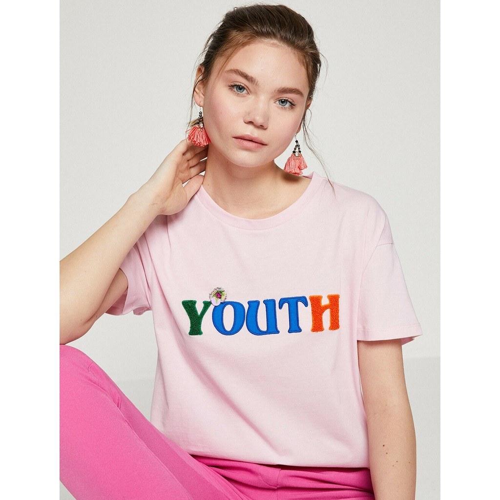 عرضه پستی تیشرت دخترانه طرح دار برند کوتون koton مستقیم از ترکیه کد محصول: 12656