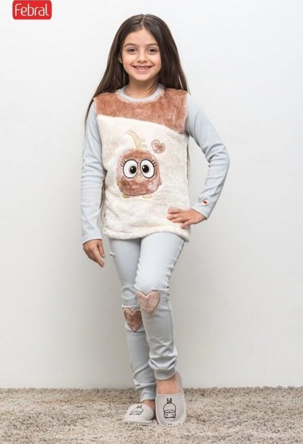 ست تی شرت و شلوار دخترانه مادر مدل TimanaGray-93