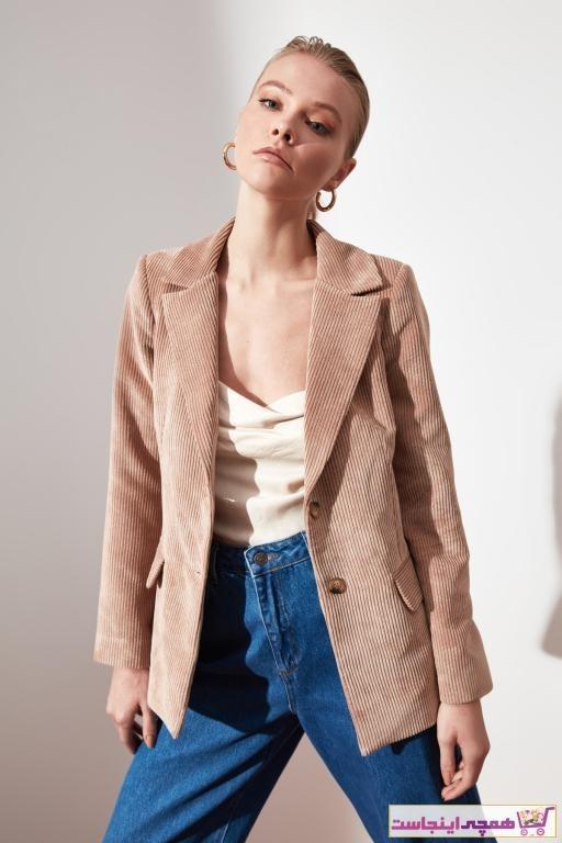تصویر سفارش ژاکت زنانه ارزان برند ترندیول میلا ترک رنگ بژ کد ty49879376