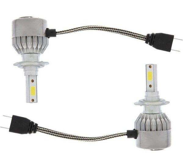 تصویر لامپ هدلایت خودرو مدل C6 H7 بسته دو عددی