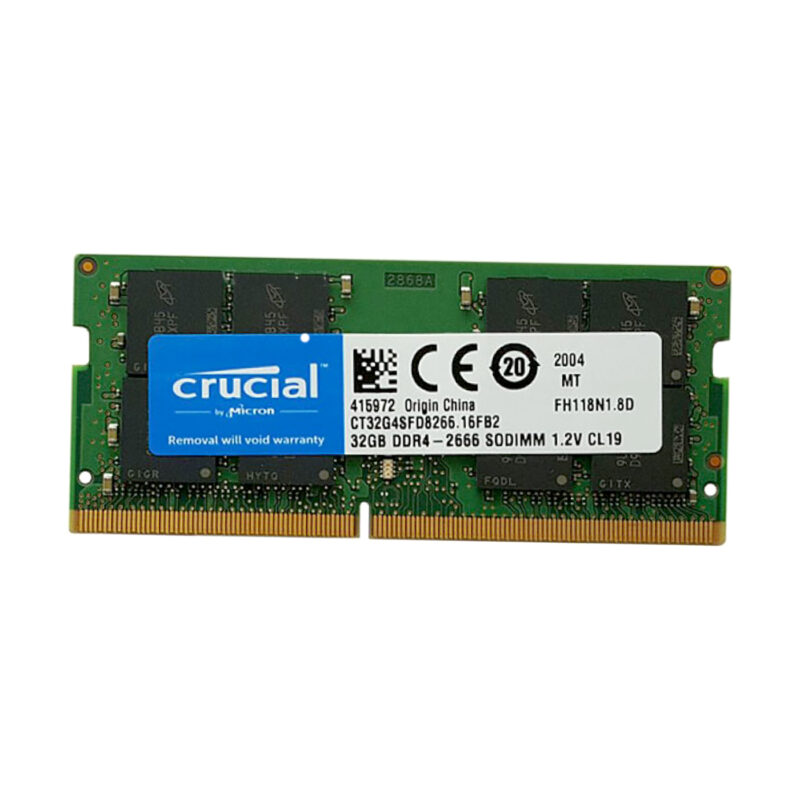 تصویر رم لپ تاپ ۳۲ گیگ کروشیال  Crucial DDR4-2666 MHZ 1.2V
