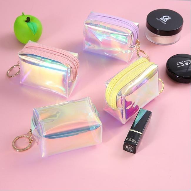 کیف لوازم آرایش هولوگرامی مربع Make up Hologram Bag | Make up Hologram Bag