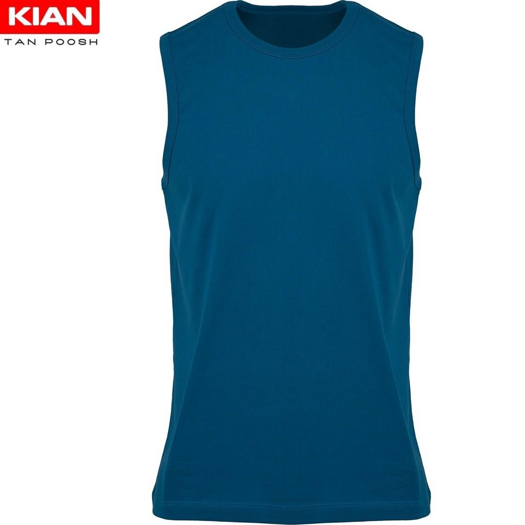 تصویر زیرپوش آستین حلقه مردانه پنبه آبی