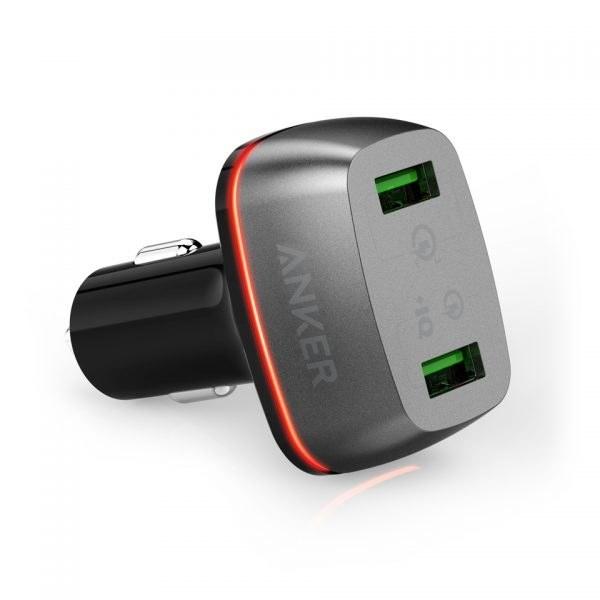 عکس شارژر ماشینی انکر مدل PowerDrive+ 2 انکر مدل Quick Charge 3.0  شارژر-ماشینی-انکر-مدل-powerdrive+-2-انکر-مدل-quick-charge-30