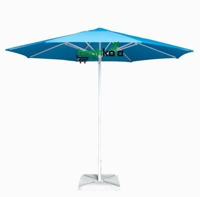 تصویر سایبان چتری آلومینیومی هشت ضلعی قطر 3 متر