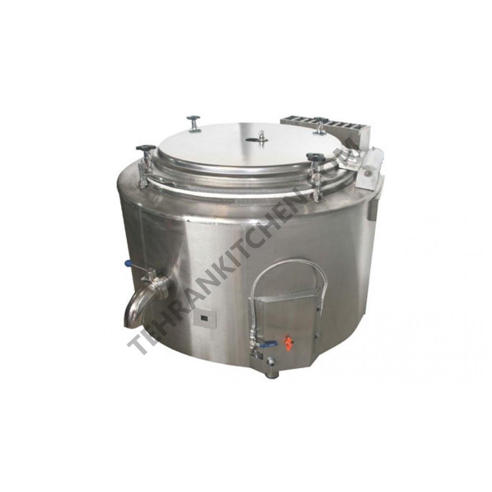 دیگ چلوپز گاز سوز صنعتی300 لیتری  