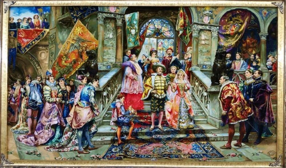 تصویر تابلو فرش عروسی شاهزاده Carpets the wedding of Princess