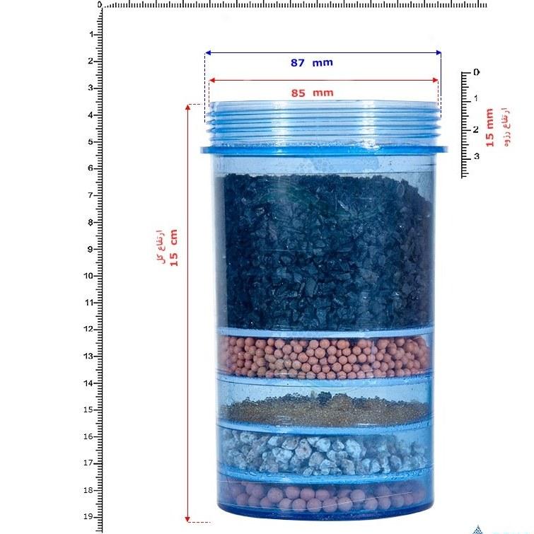 تصویر فیلتر طبقاتی تصفیه آب کلمنی مدل WMS-2 Multi Stage Filter for Gravity Water Purifier System Model WMS-2