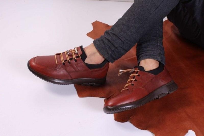 کفش چرم مردانه مدل بهاران