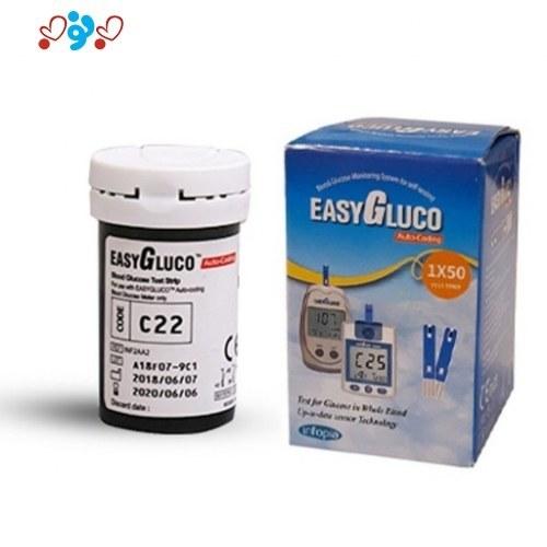 تصویر نوار قند خون ایزی گلوکو EASY GLOCO (50 عددی)