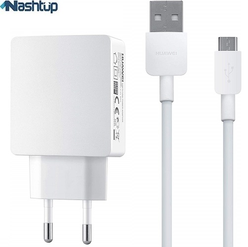 main images شارژر ديوارى ٢ آمپر اصلى همراه كابل هواوى گوشى Huawei Y9 2018 2A travel charger with 1 m cable for huawei Y9 2018