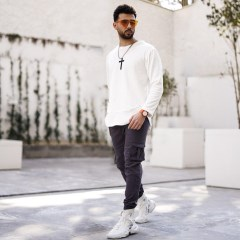 تصویر شلوار اسلش طوسی مردانه مدل KOMBO