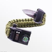 تصویر دستبند پاراکورد تاکتیکال به همراه ساعت