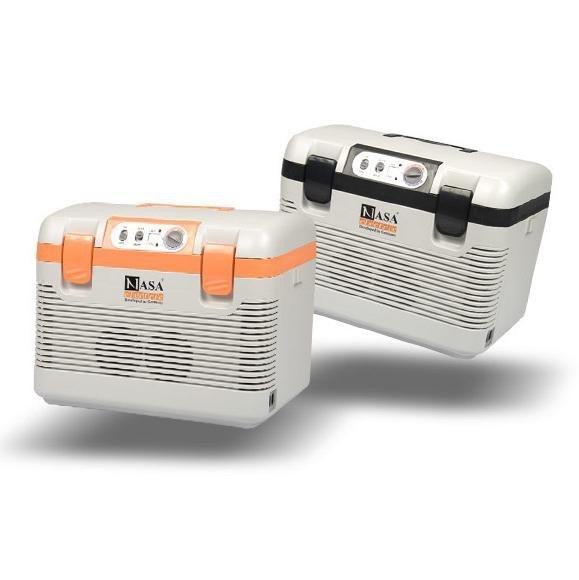 تصویر یخچال ماشین ناسا الکتریک مدل NS 9830 سرد و گرم                          (مشکی و سفید) Nasa Electric NS-9830 Car Refrigerator Remote Use