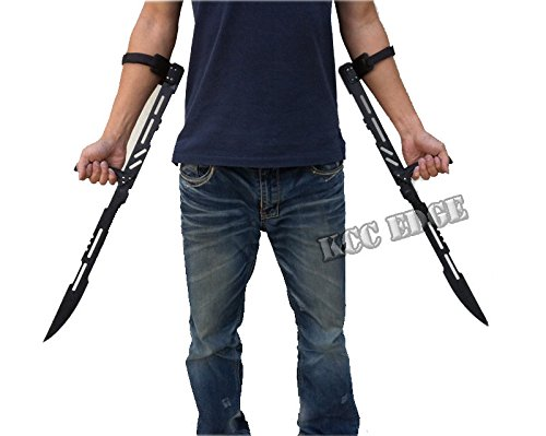 "| 2 PACK COMBO 27.5"" LARGE BLOOD RAYNE NINJA VAMPIRE MACHETE SWORD BLADE KNIFE"