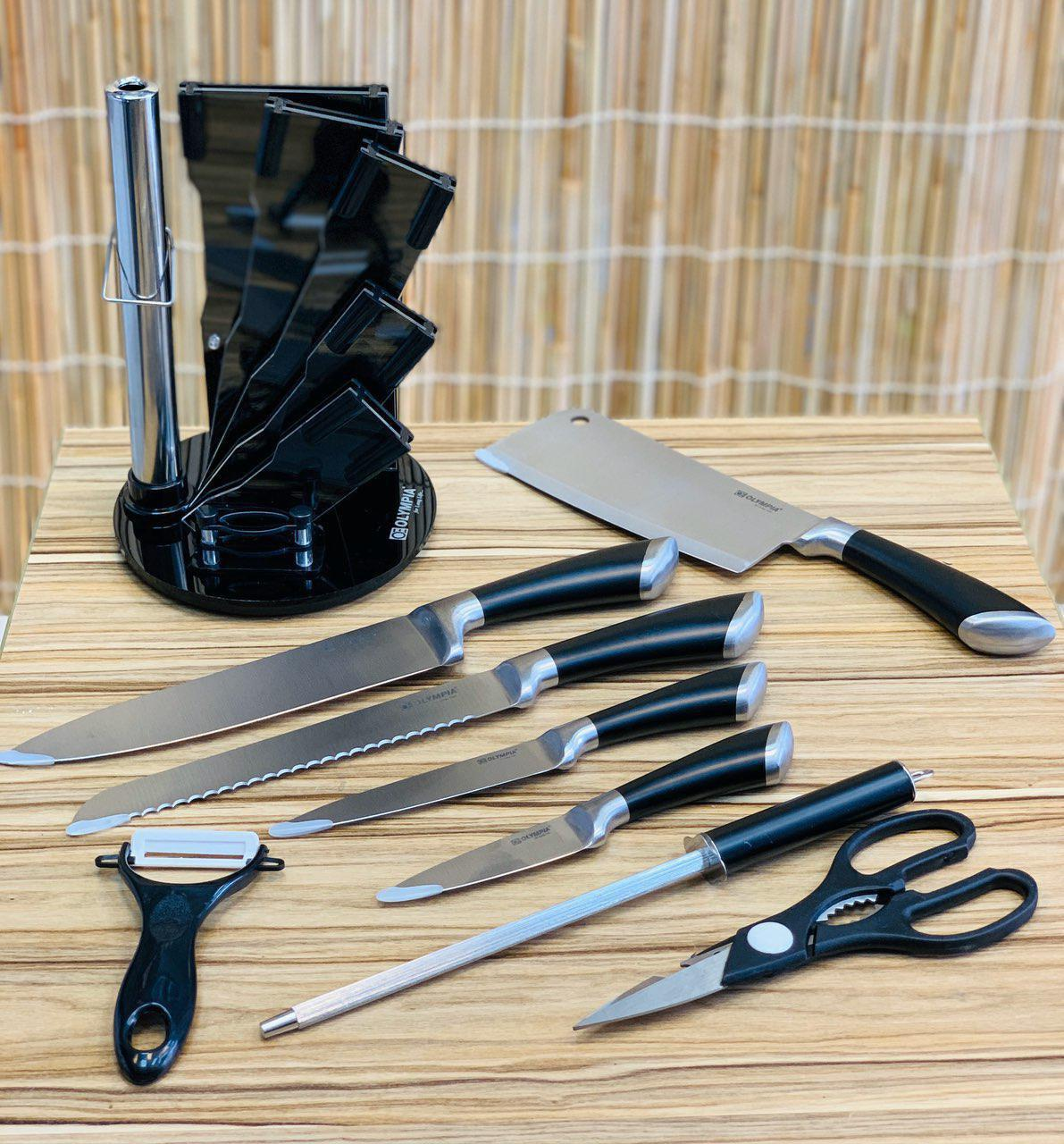 تصویر سرویس چاقوی آشپزخانه 9 پارچه المپیا