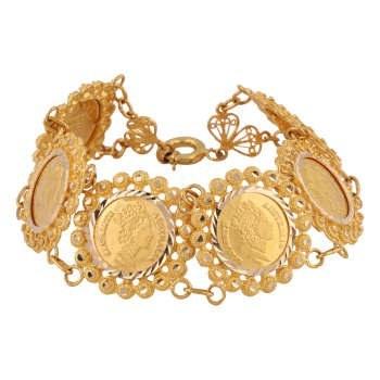 دستبند طلا 18 عیار گوی گالری مدل G241 |