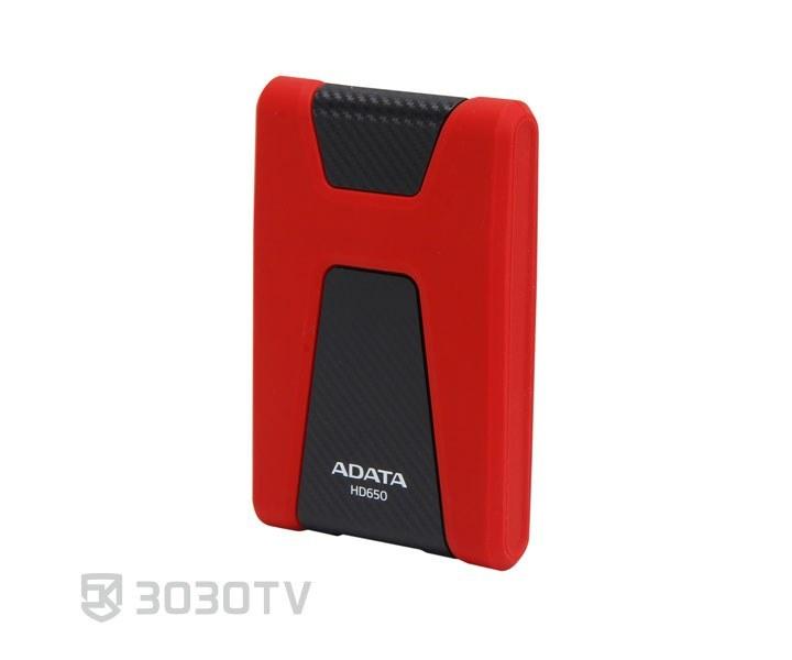تصویر هارددیسک اکسترنال ای دیتا مدل دشدرایو دیوربل HD650 ظرفیت 1 ترابایت Adata DashDrive Durable HD650 External HDD - 1TB