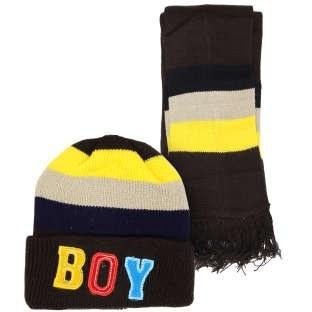 ست کلاه و شال گردن پسرانه کد P7805 |