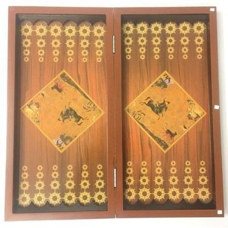 صفحه تخته نرد و شطرنج چوبی خاتم طرح عباسی