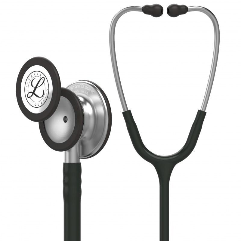 image گوشی پزشکی لیتمن کلاسیک 3 مشکی ساده 5620 Littmann Classic III 5620 Stethoscope
