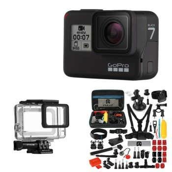 دوربین فیلم برداری ورزشی گوپرو مدل HERO7 Black Quick Stories به همراه لوازم جانبی پلوز | Gopro Hero7 Black Action Camera With Puluz Accessory