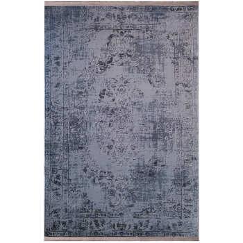 فرش ماشینی زمرد مشهد طرح پتینه کد TA105 زمینه طوسی |