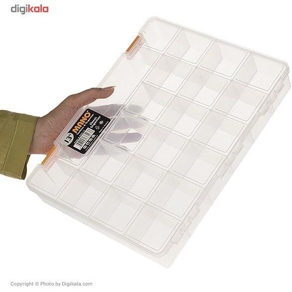 تصویر جعبه اورگانایزر مانو مدل SORG13 سایز 13 اینچ Mano SORG13 Size 13Inch Organiser Box