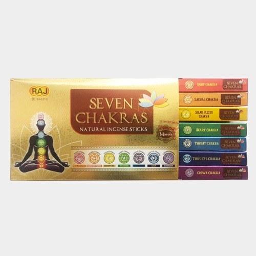 تصویر عود خوشبو کننده دست ساز  seven chakras  (هفت چاکرا ) راج RAJ
