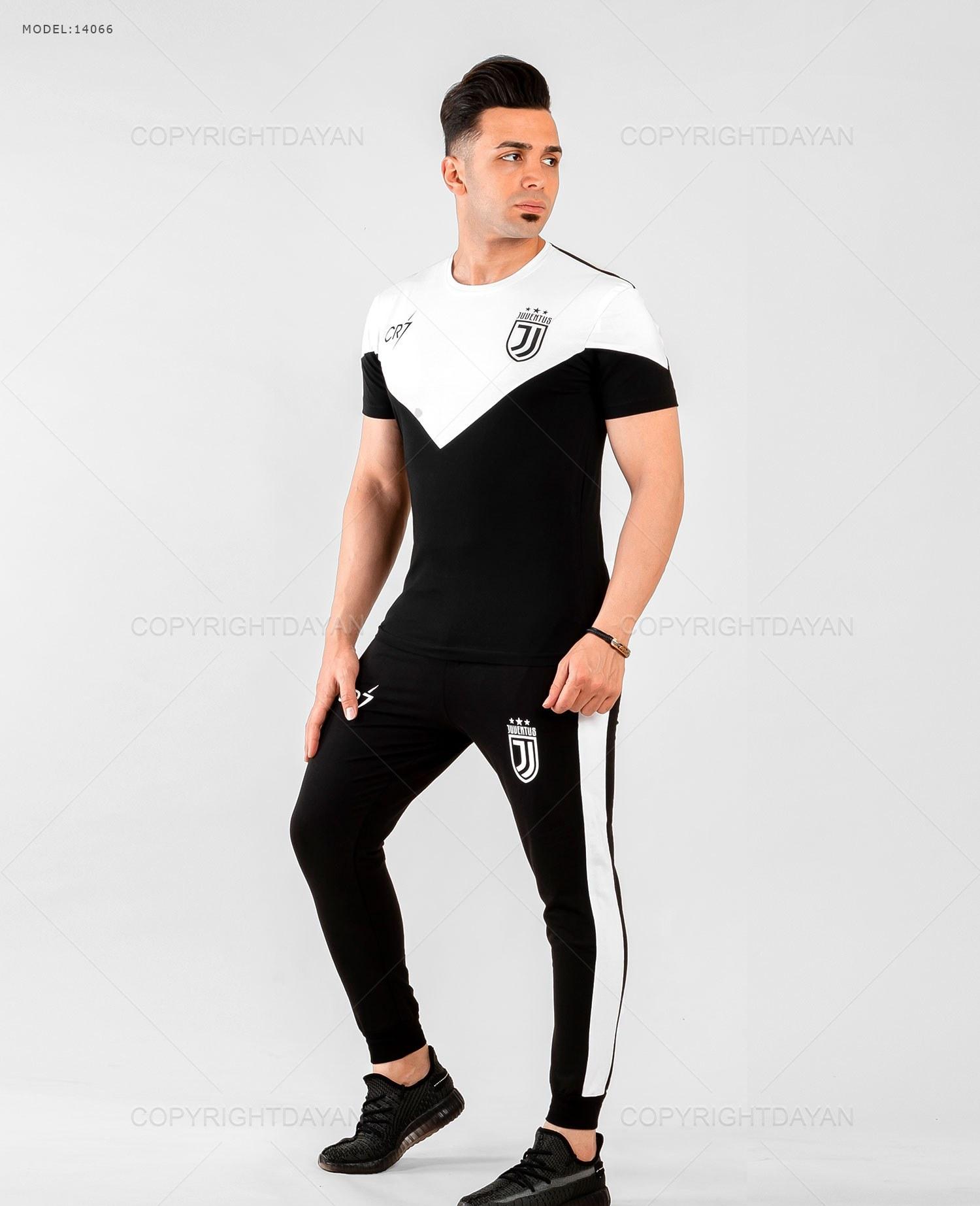 ست تیشرت و شلوار مردانه Juventus مدل 14066