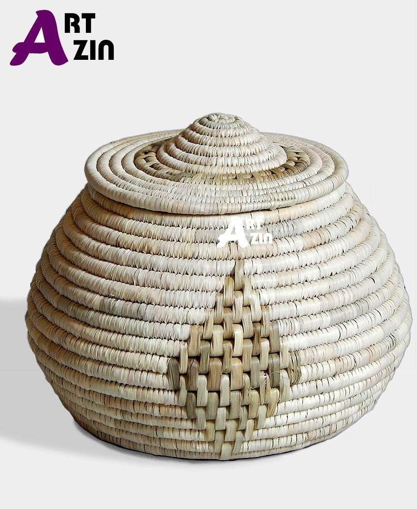تصویر سطل برنج جا برنجی حصیری بزرگ  -  کد: 270