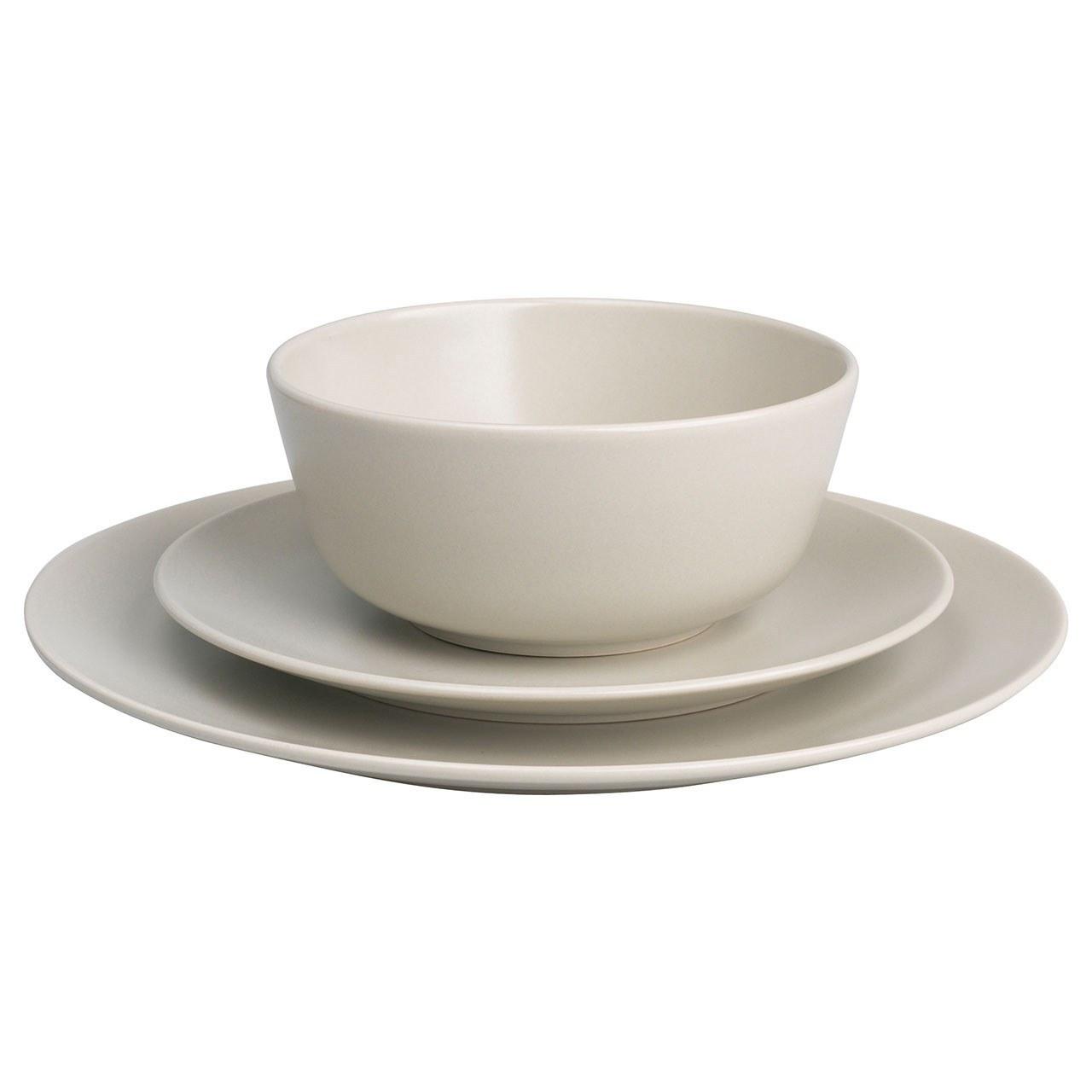 تصویر سرویس غذاخوری 18 پارچه ایکیا مدل DINERA Ikea DINERA 18 Pieces Dinnerware Set