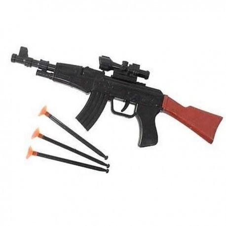 تصویر تفنگ اسباب بازی با تیر چسبونکی