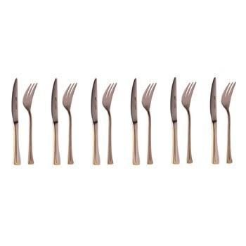ست کارد و چنگال 12 پارچه ام جی اس مدل Hannover-G | MGS Hannover-G Fork and Knife Set 12 Pcs