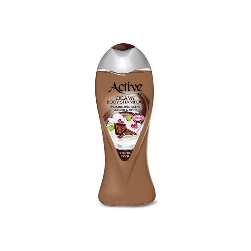شامپو بدن کرمی اکتیو مدل Chocolate مقدار 400 گرم | Active Chocolate Creamy Body Shampoo 400g