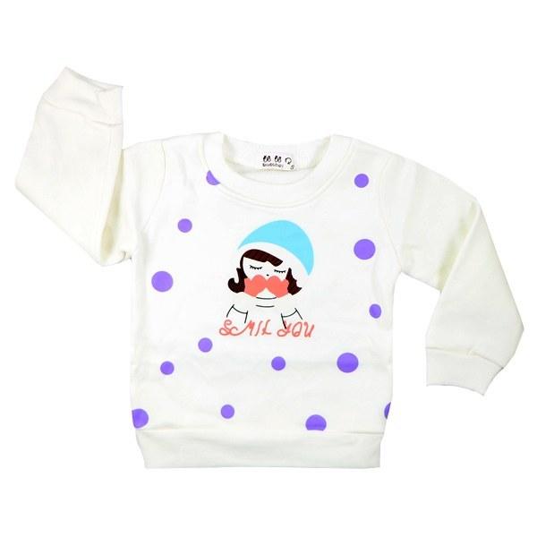 تی شرت آستین بلند تو کرکی Rurubei طرح دختر برفی سفید