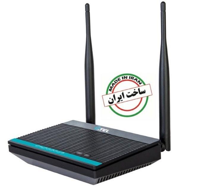 تصویر مودم روتر ADSL2 Plus بی سیم U-Tel ساخت ایران – مدل A304 U.TEL A304 300Mbps Wireless ADSL2+ Modem Router