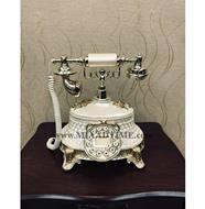 تصویر تلفن رومیزی سلطنتی آرنوس رنگ کرم مدل 920AF