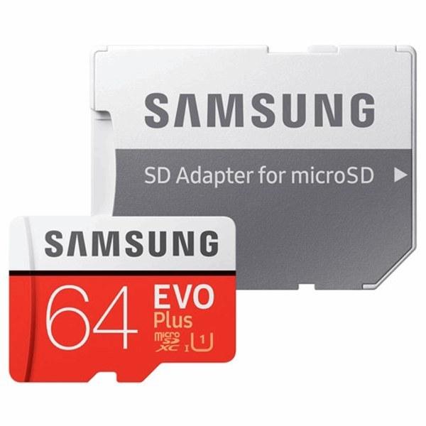 کارت حافظه microSDXC سامسونگ مدل Evo کلاس 10 استاندارد UHS-I U3 سرعت 100MBps همراه با آداپتور SD ظرفیت 64 گیگابایت   Samsung Evo UHS-I U3 Class 10 100MBps microSDXC With Adapter - 64GB