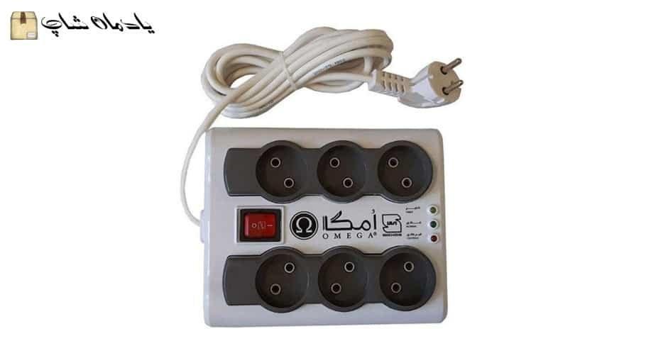 تصویر محافظ برق Omega مدل P6000 - کد 2367 قیمت   به شرط خرید تیمی