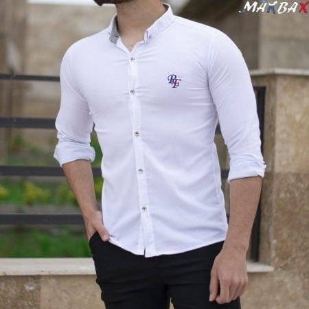 عکس پیراهن مردانه سفید RF  پیراهن-مردانه-سفید-rf