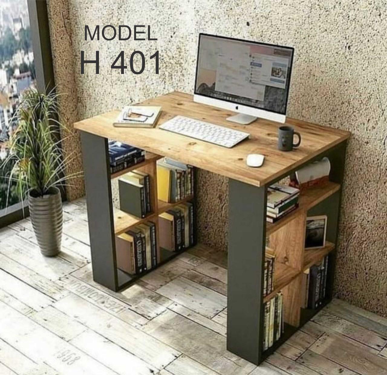 تصویر میز تحریر کتابخانه دار مدل H401