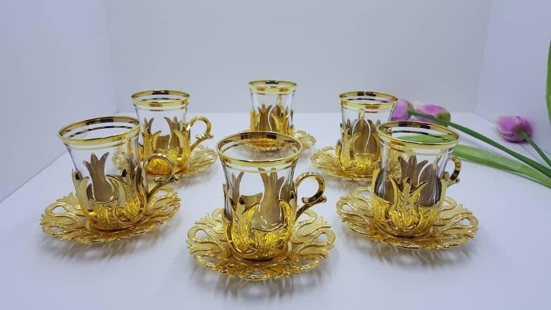 تصویر کد 5-206  استکان چای خوری بدون قاشق و سینی