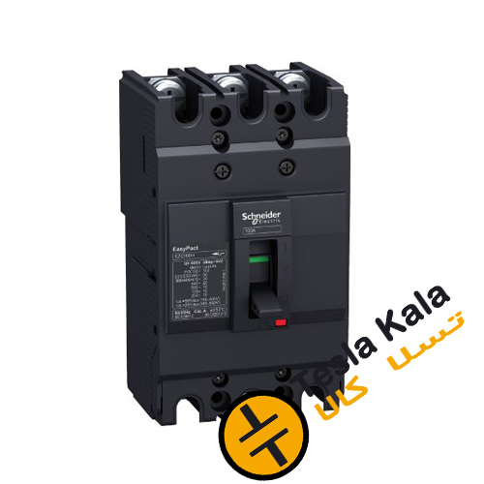 تصویر کلید اتوماتیک،اشنایدر 100 آمپر،غیرقابل تنظیم حرارتی-مغناطیسی سری EZC