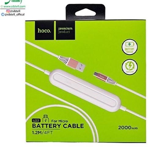 تصویر کابل پاوربانکی micro USB هوکو مدل U22  – طول ۱٫۲ متر Hoco U22 Powerbank And  micro USB Cable