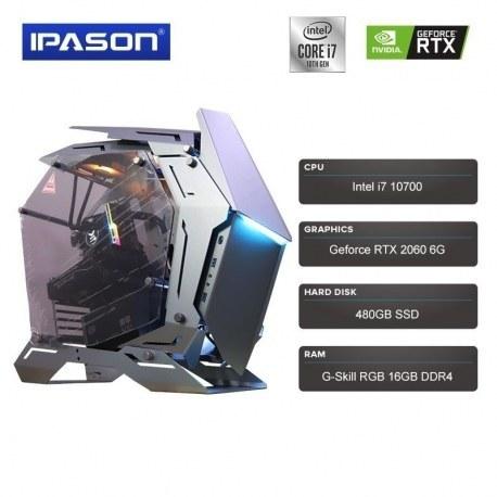کامپیوتر دسکتاپ مدل IPASON New Arrival I7 10700 Ryzen 5 3600 RTX 2060 6G 480G SSD RGB 16G DDR4 RAM Gaming