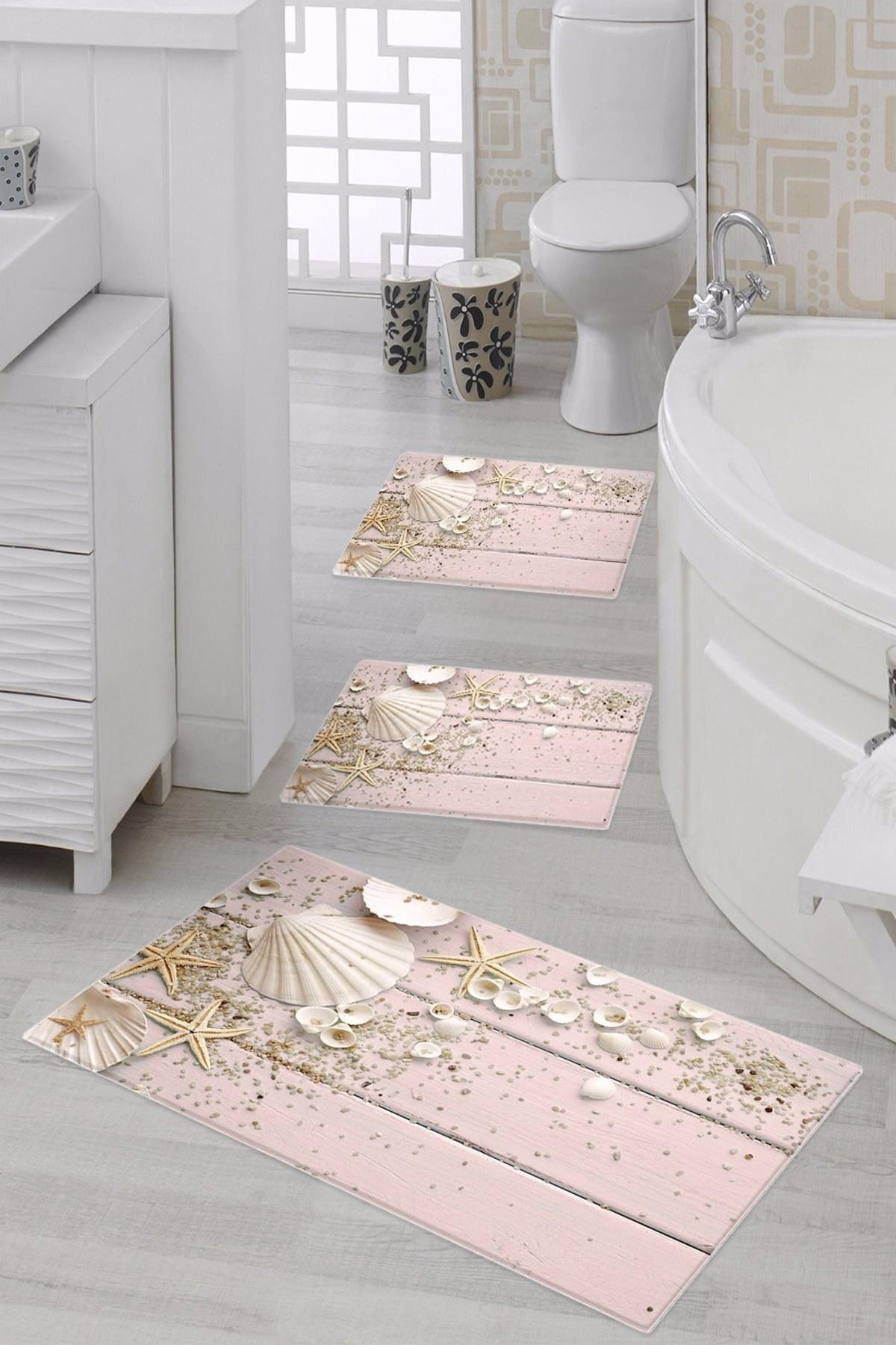 تصویر پادری طرح صدف مخصوص حمام دستشویی elleser  کد: ۱۸۸۰PEMBE