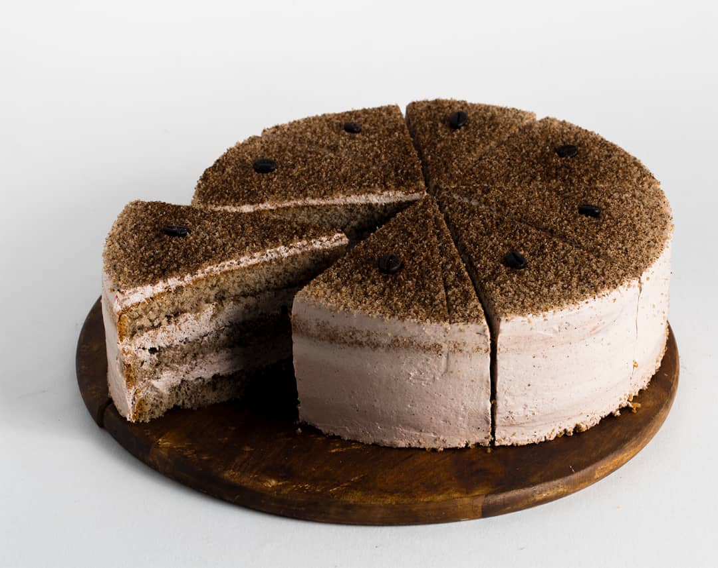 تصویر کیک عصرونه موکا