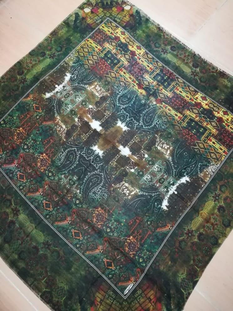 روسری نخی قواره ۱۲۰ |