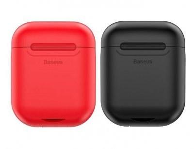 کیس شارژ سیلیکونی ایرپاد بیسوس Baseus WIAPPOD-09 Wireless Charger Silicone Protective Case  